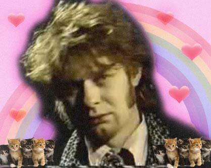JG Thirlwell with hearts and kittens