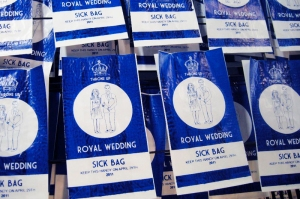 Royal wedding sick bag by Lydia Leith