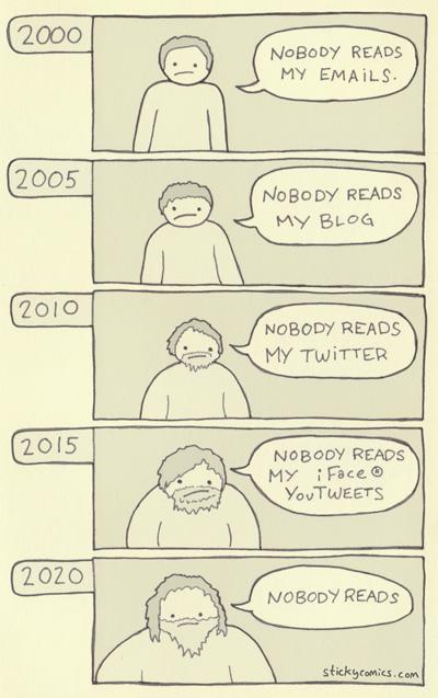 Nobody Reads My Timeline from Sticky Comics