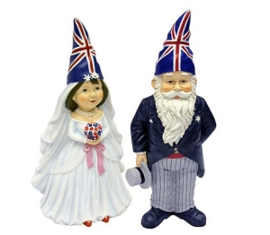 Bride and Groom gnomes from B&Q