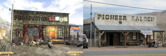 Real New Vegas: the saloon in Goodsprings