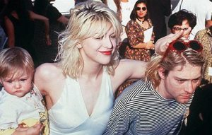Frances Bean, Courtney Love and Kurt Cobain
