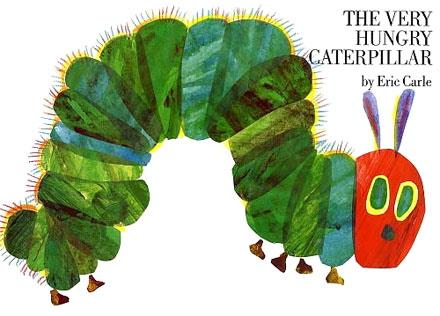 The Very Hungry Caterpillar front cover - P Benson wants this book banned!