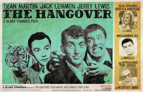 The Hangover anachronistic film poster by Peter Stults
