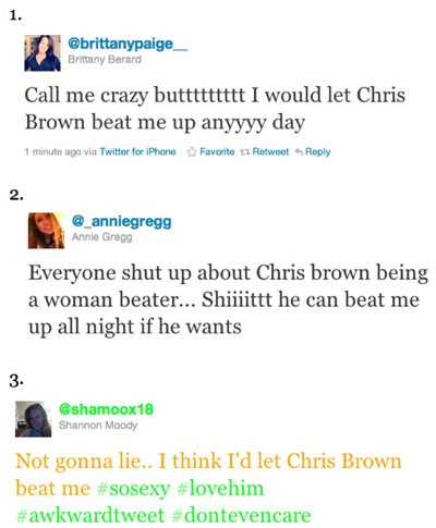 Chris brown fans would let him beat them