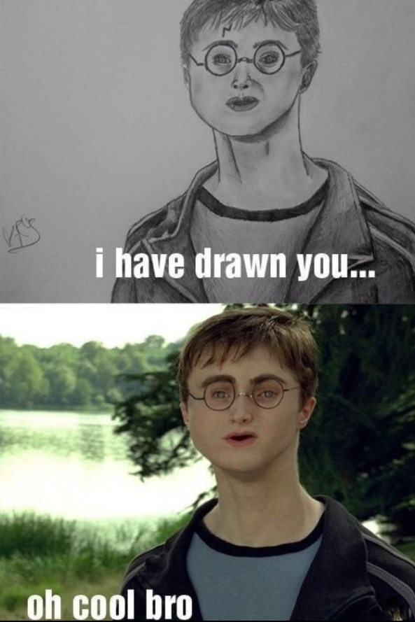 Daniel Radcliffe with an off-centred face