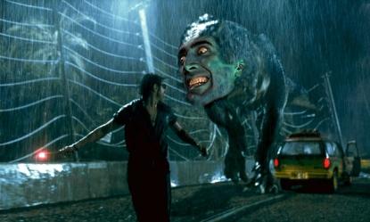 Nicolas Cage Jurassic Park t-rex dinosaur