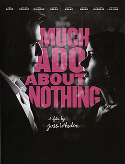 Much Ado About Nothing Whedon poster
